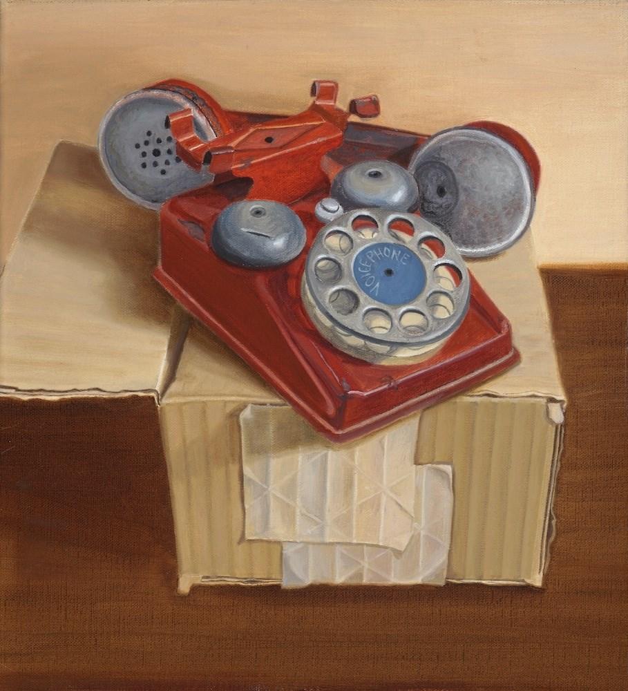 """Voicephone"" original fine art by Susan Fern"