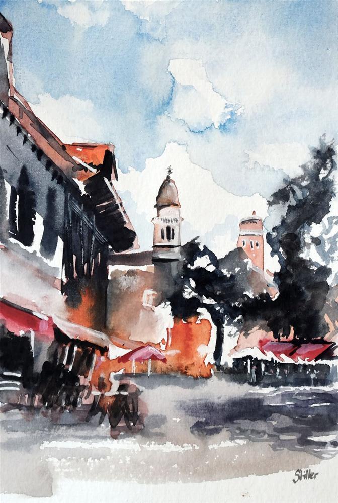 """""""3164 Piazza Margherita"""" original fine art by Dietmar Stiller"""