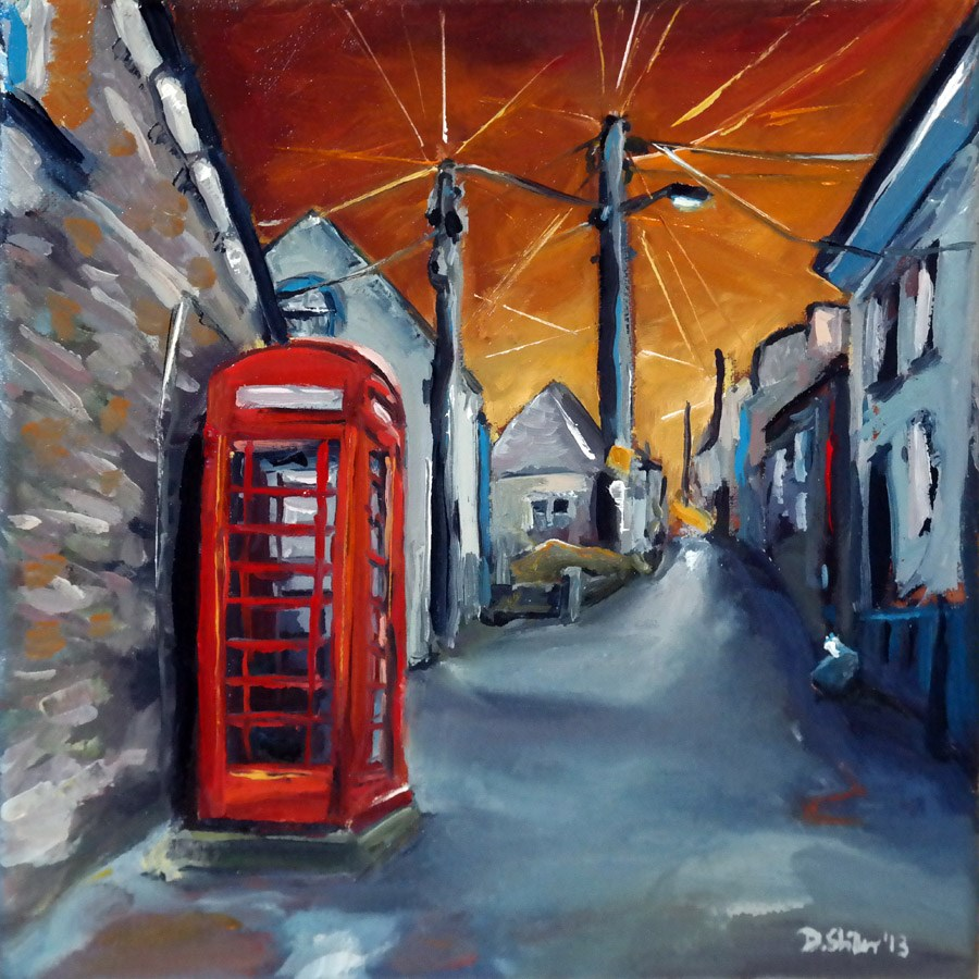 """0839 Phone Booth"" original fine art by Dietmar Stiller"