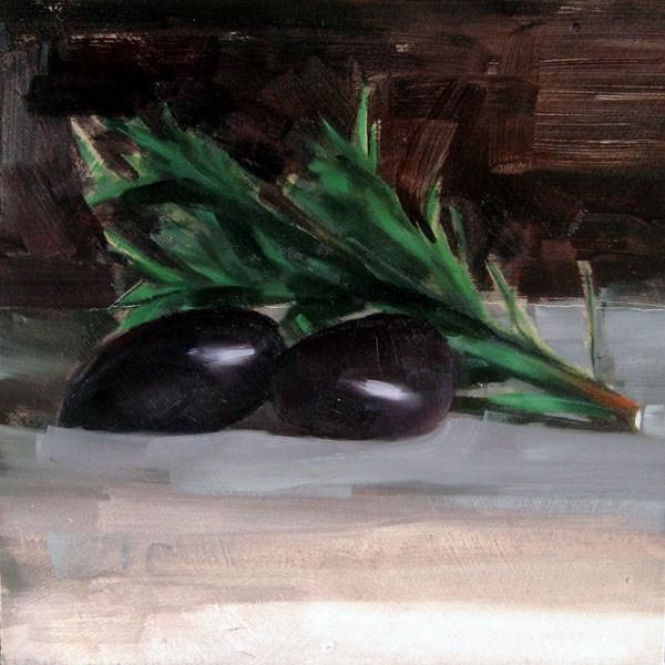 """Rosemary and Kalamata Olives (no.79)"" original fine art by Michael William"