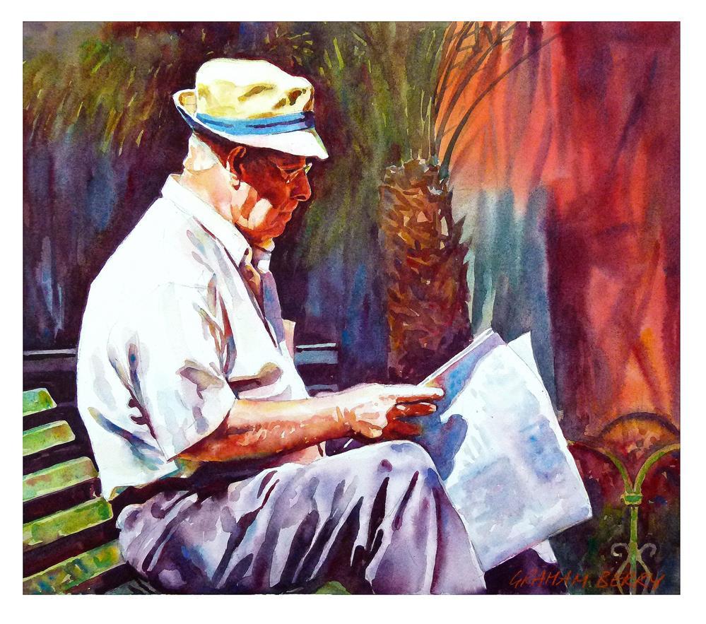 """News from home."" original fine art by Graham Berry"