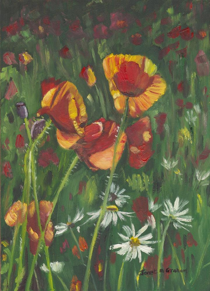 """Poppies"" original fine art by Janet Graham"
