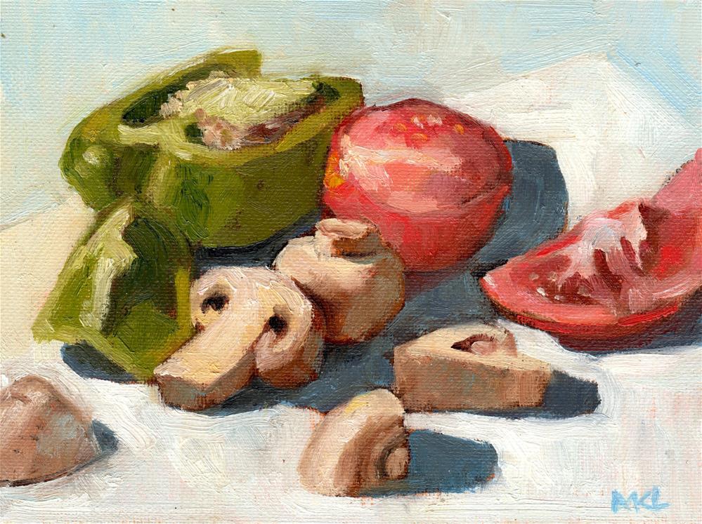"""""""For Dinner"""" original fine art by Marlene Lee"""