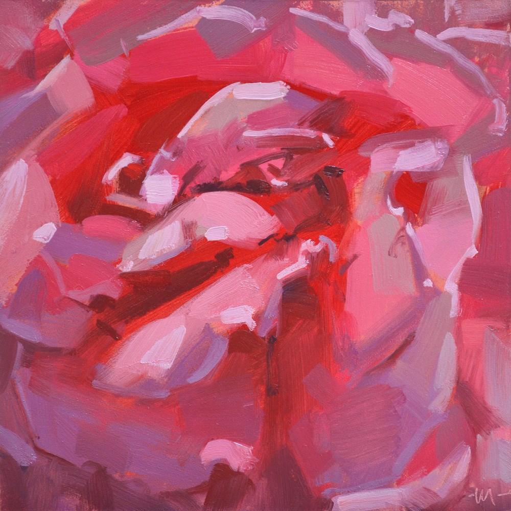 """Full Up Pink"" original fine art by Carol Marine"