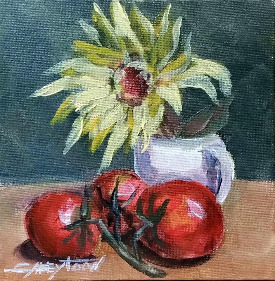 """""""Tomatoes"""" original fine art by Gabriella DeLamater"""