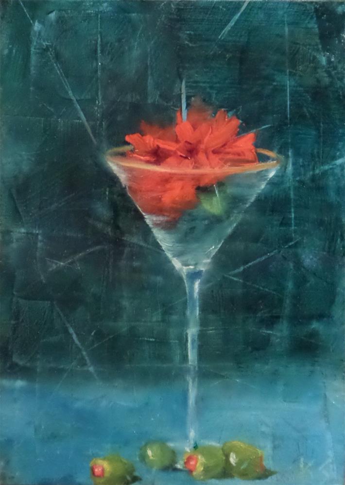 """A Very Dry Martini"" original fine art by Kris Stewart"