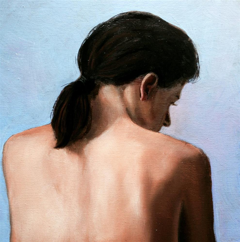 """Simple 12x12 oil on canvas not framed"" original fine art by David Larson Evans"