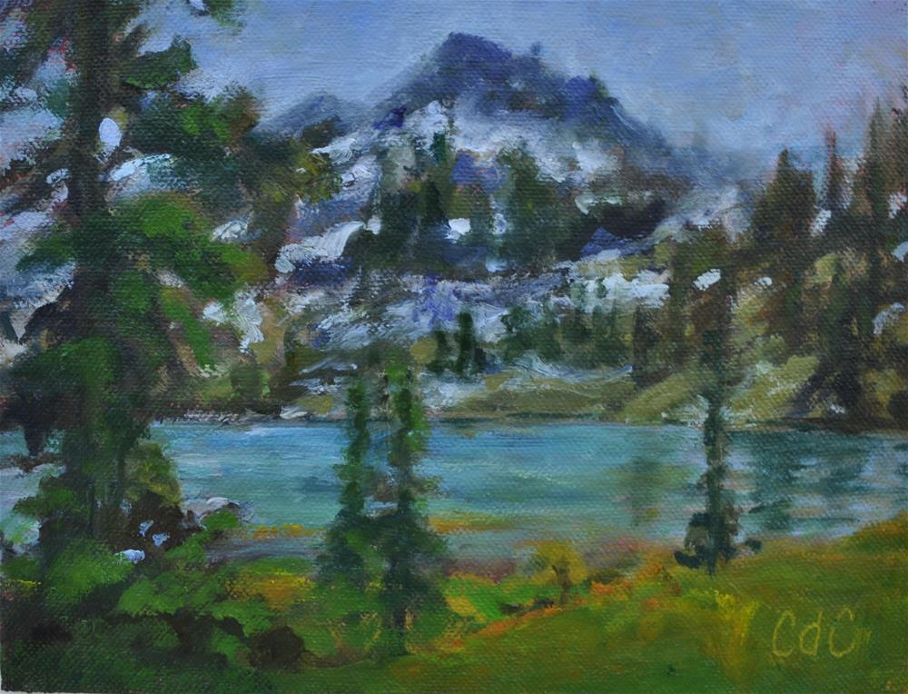 """White Pine Lake"" original fine art by Catherine Crookston"
