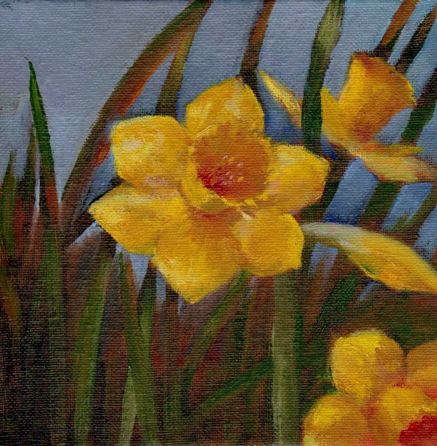 """daffodils"" original fine art by Mark DeBak"