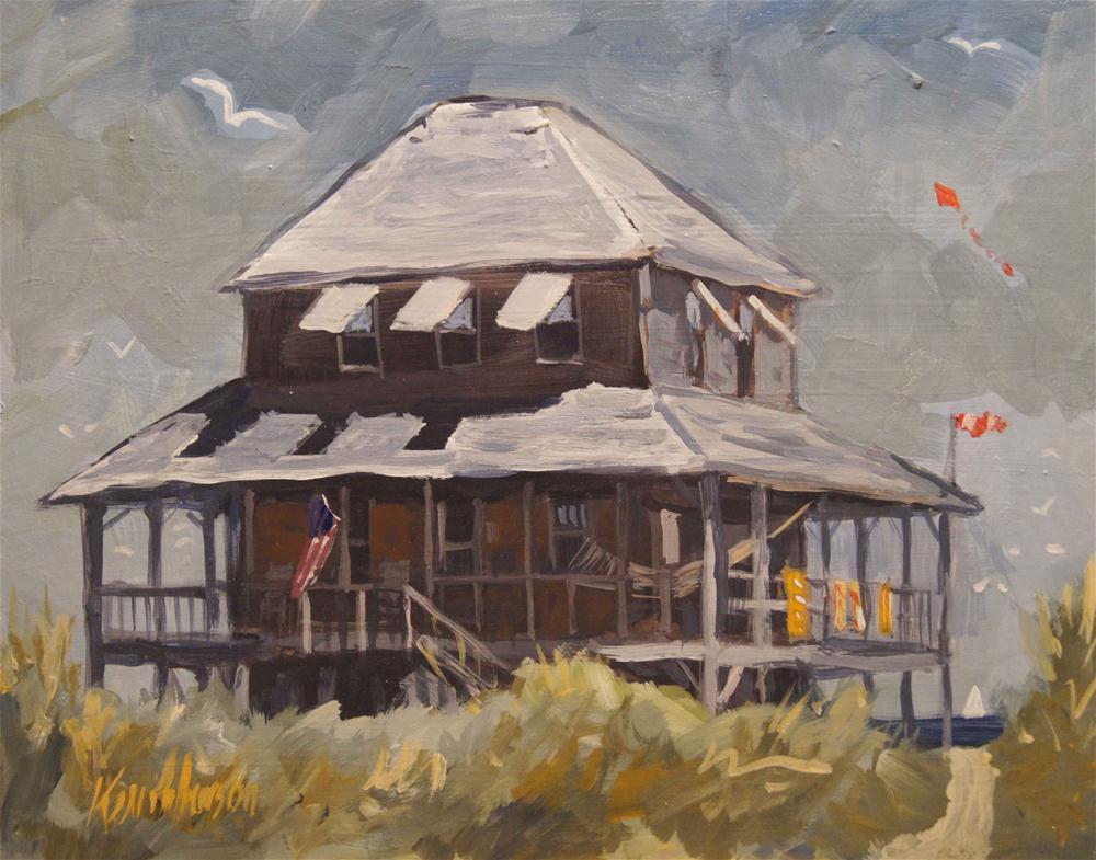 """Beach Cottage 3"" original fine art by Kevin Larson"