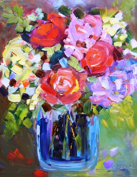 """Colorful Life"" original fine art by Lisa Fu"