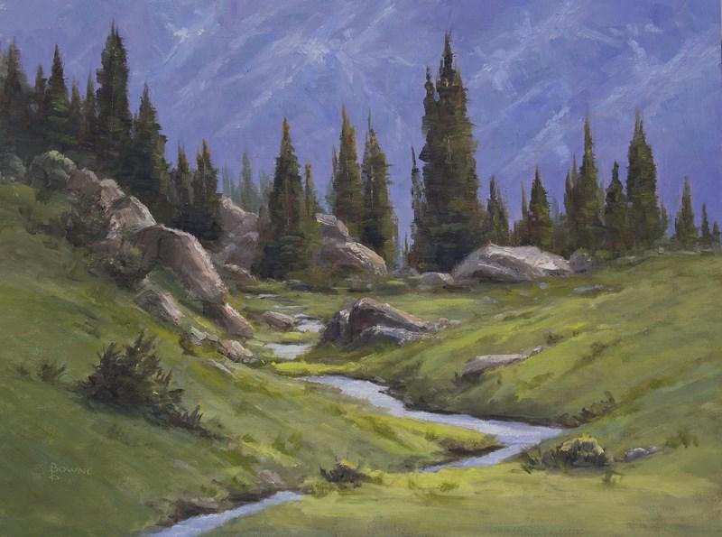 """Rocky Mountain Tundra"" original fine art by Bonnie Bowne"