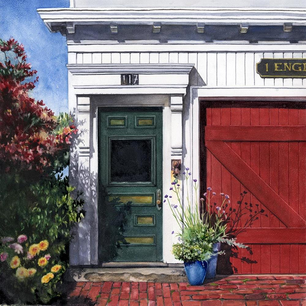 """""""Cape Engine House"""" original fine art by Kara K. Bigda"""