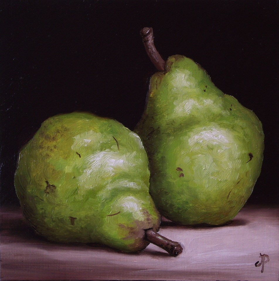 """Pair of Williams Pears"" original fine art by Jane Palmer"