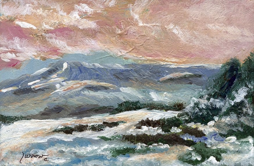 """Snow Scape"" original fine art by Sue Furrow"