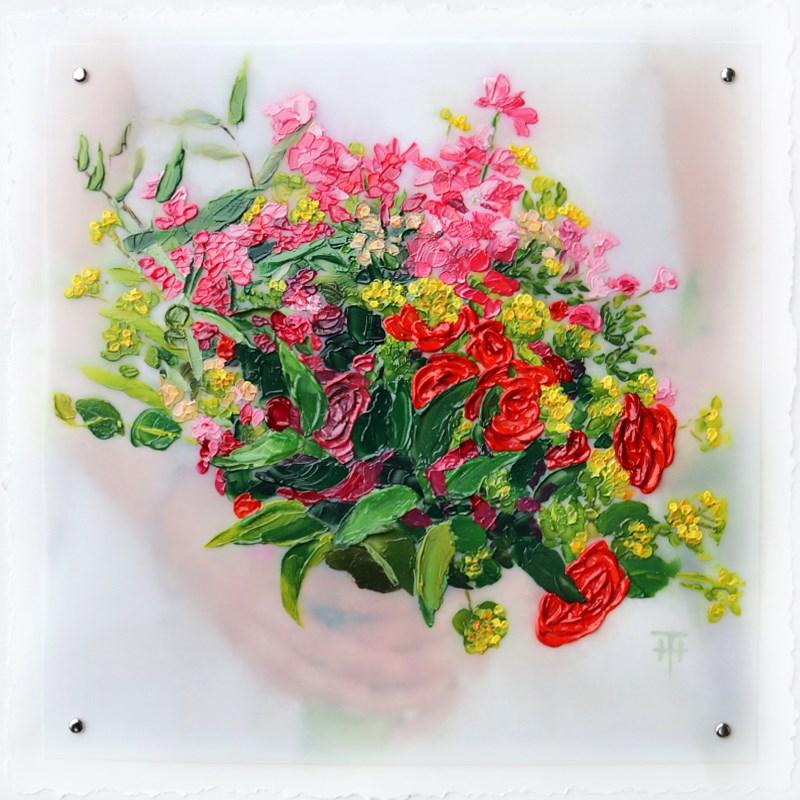 """Amy's Bouquet - Custom Wedding Bouquet Painting"" original fine art by Terri Heinrichs"