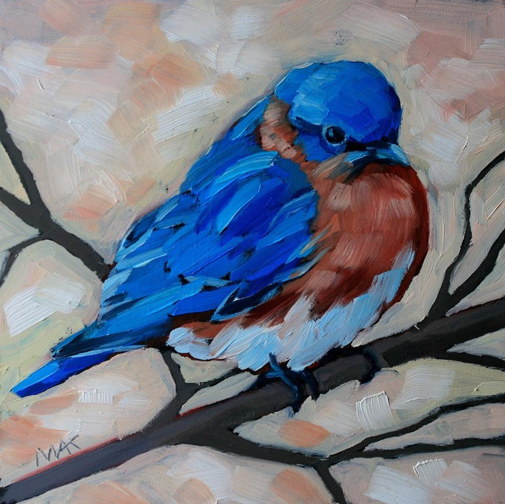 """""""Bluebird and Branch"""" original fine art by Mary Anne Cary"""