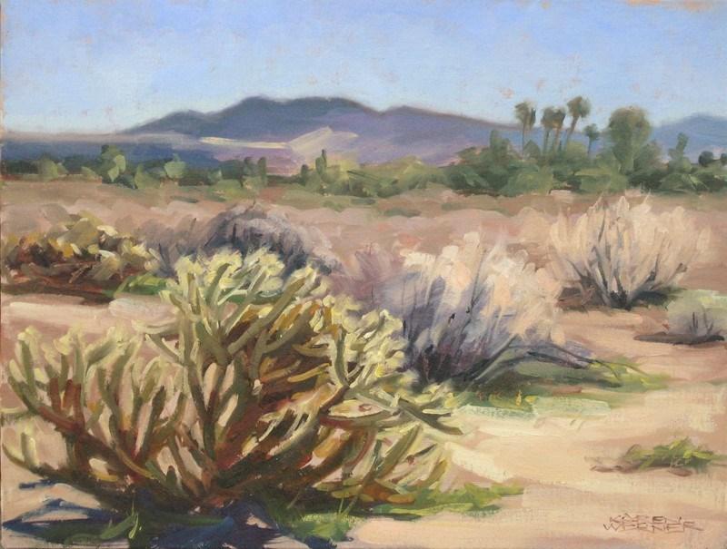 """""""Desert Cholla"""" original fine art by Karen Werner"""