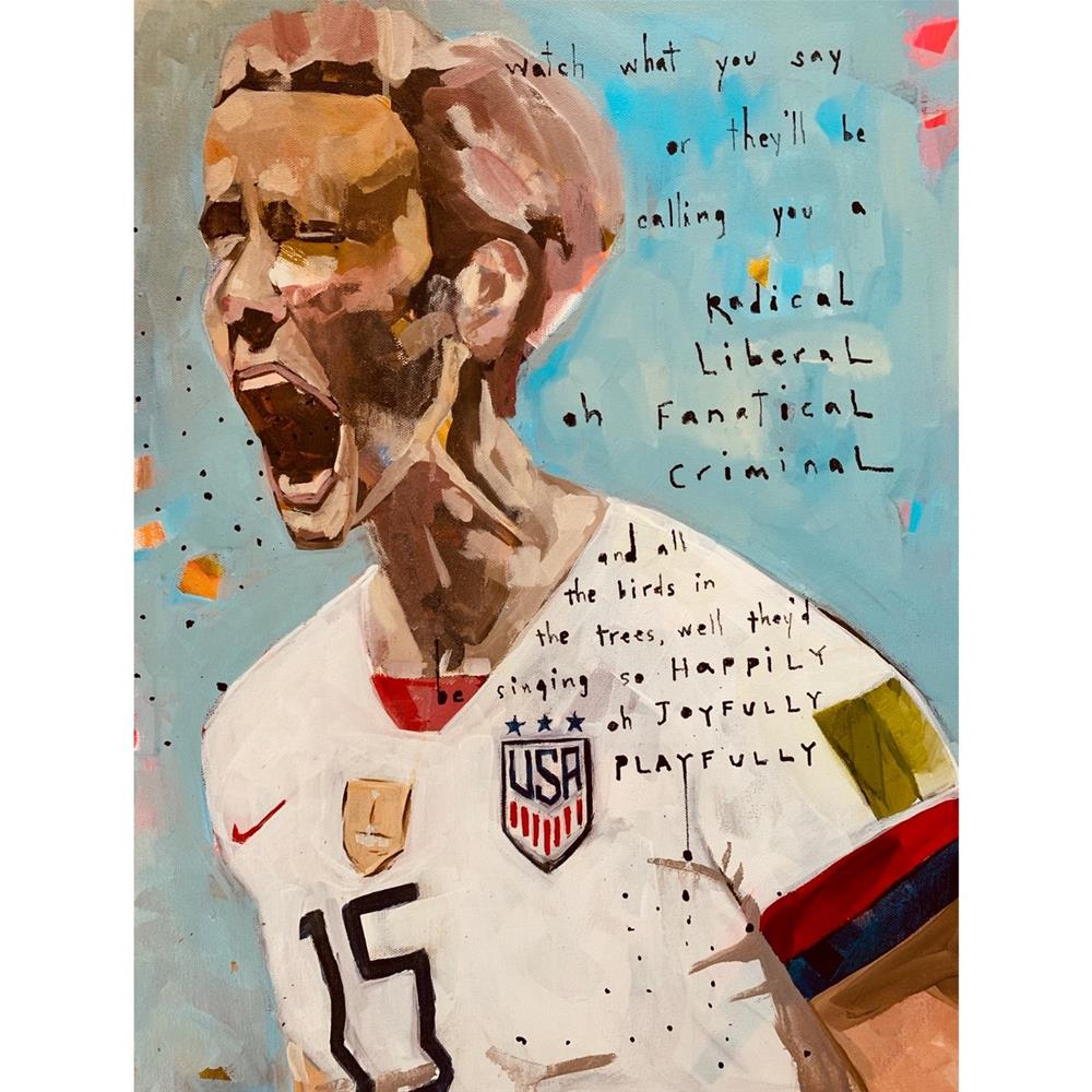 """724 Rapinoe"" original fine art by Jenny Doh"