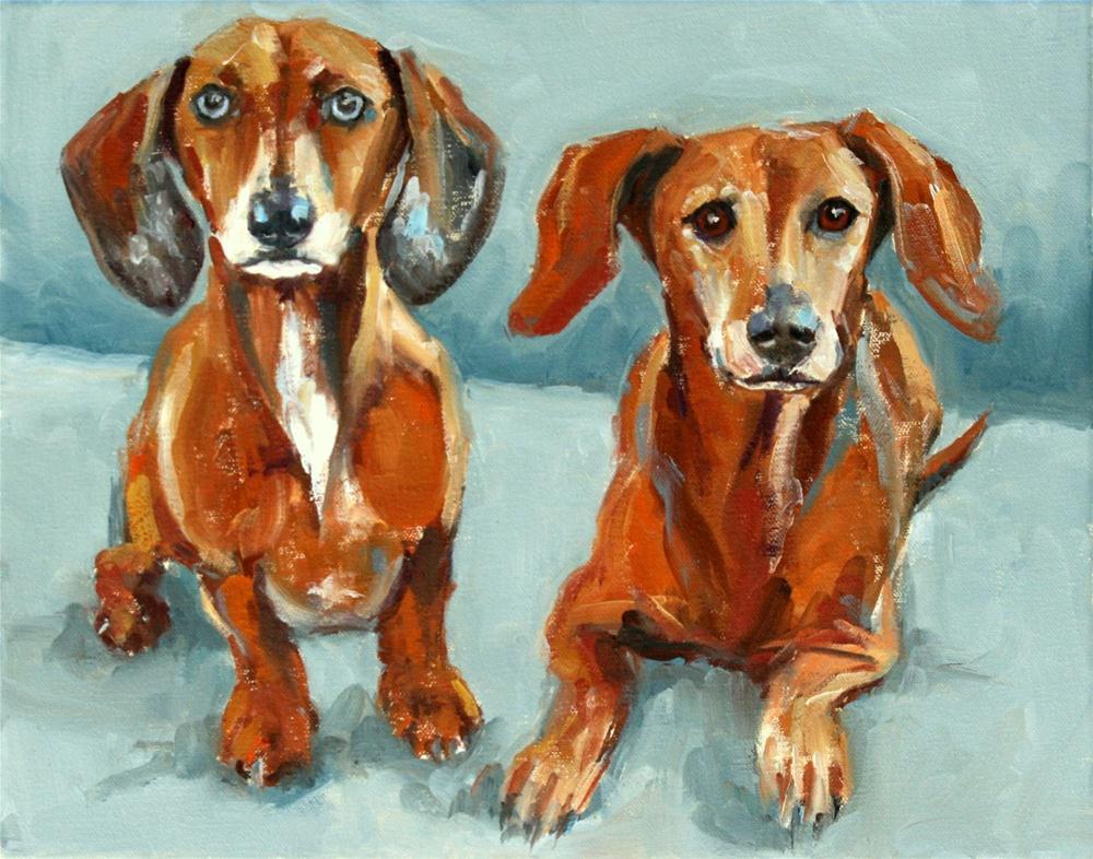 """mickey blue eyes and prince"" original fine art by Carol Carmichael"
