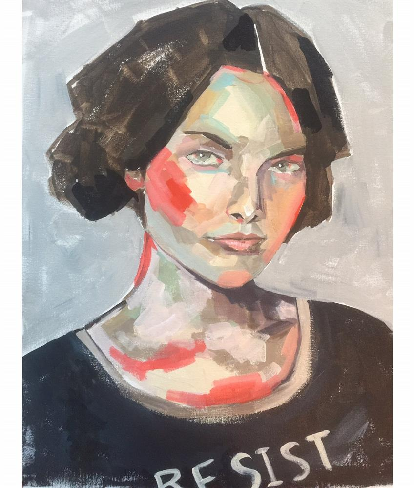 """""""546 I Still Resist"""" original fine art by Jenny Doh"""