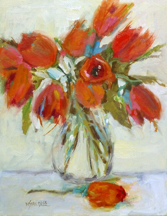 """Valentine Tulips 14003"" original fine art by Nancy Standlee"