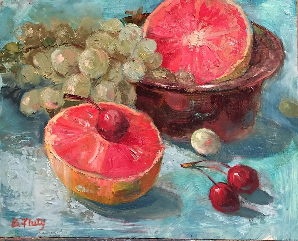 """""""In the Pink"""" original fine art by Barbara Fluty"""