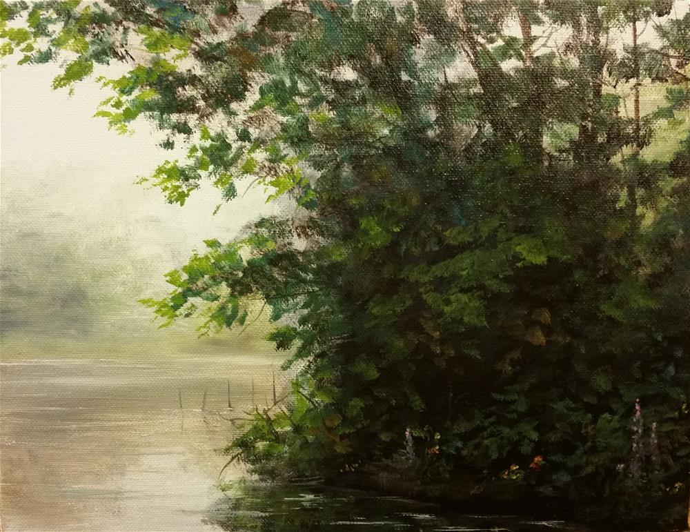 """""""Grove of Trees at the Pond, Independence, KY"""" original fine art by Kim Vanlandingham"""