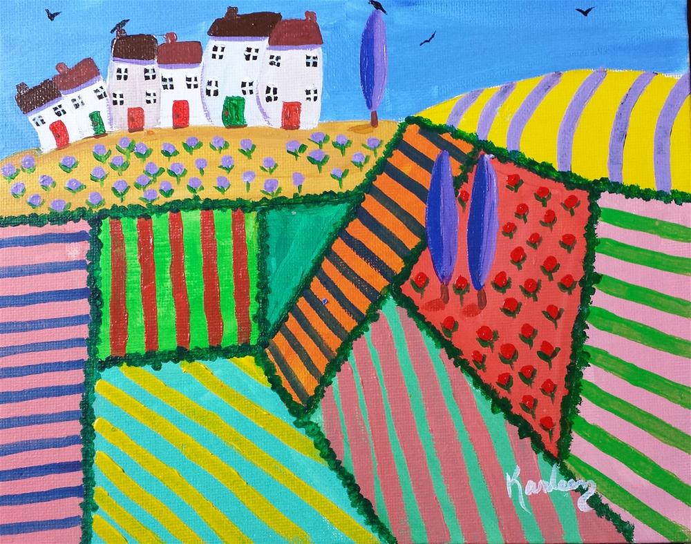 """Overlooking the Fields"" original fine art by Karleen Kareem"