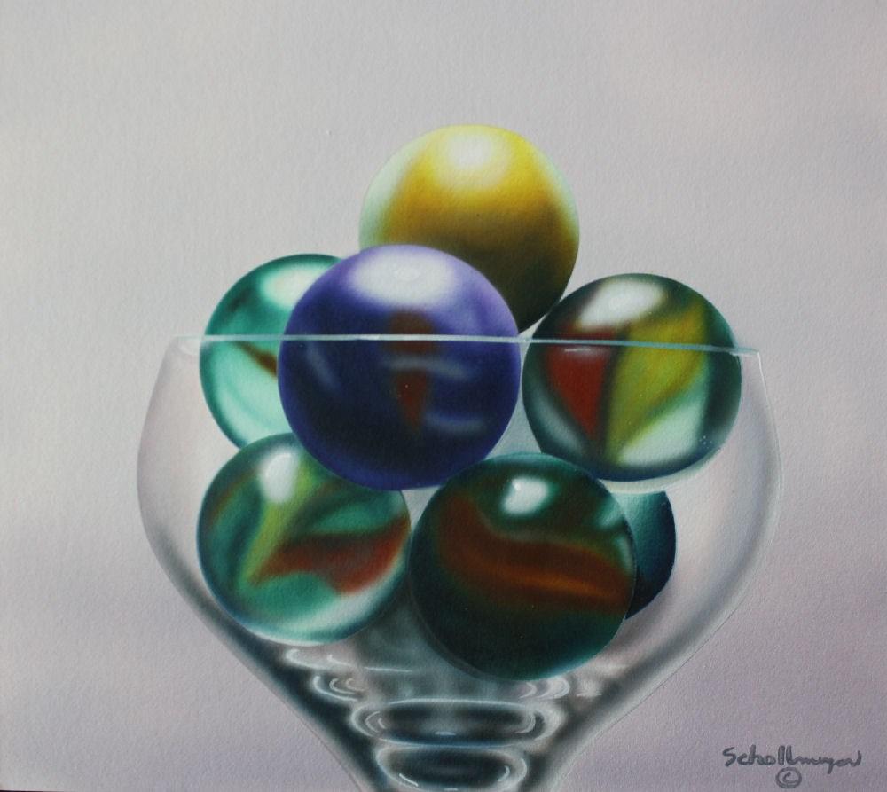 """""""Marbles # 10"""" original fine art by Fred Schollmeyer"""