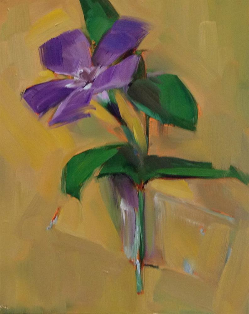 """A Major Vinca Minor"" original fine art by Patti McNutt"