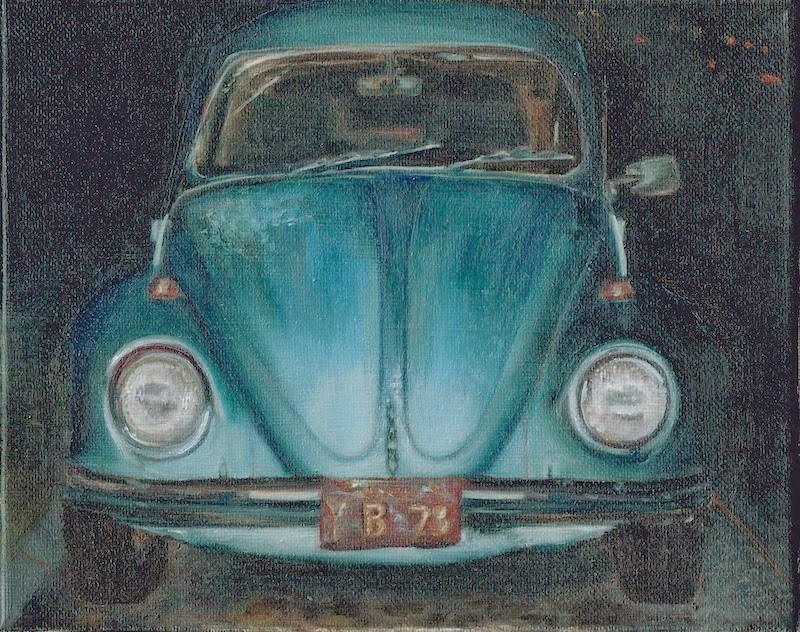 """""""Y B Blu"""" original fine art by Karen Stitt"""