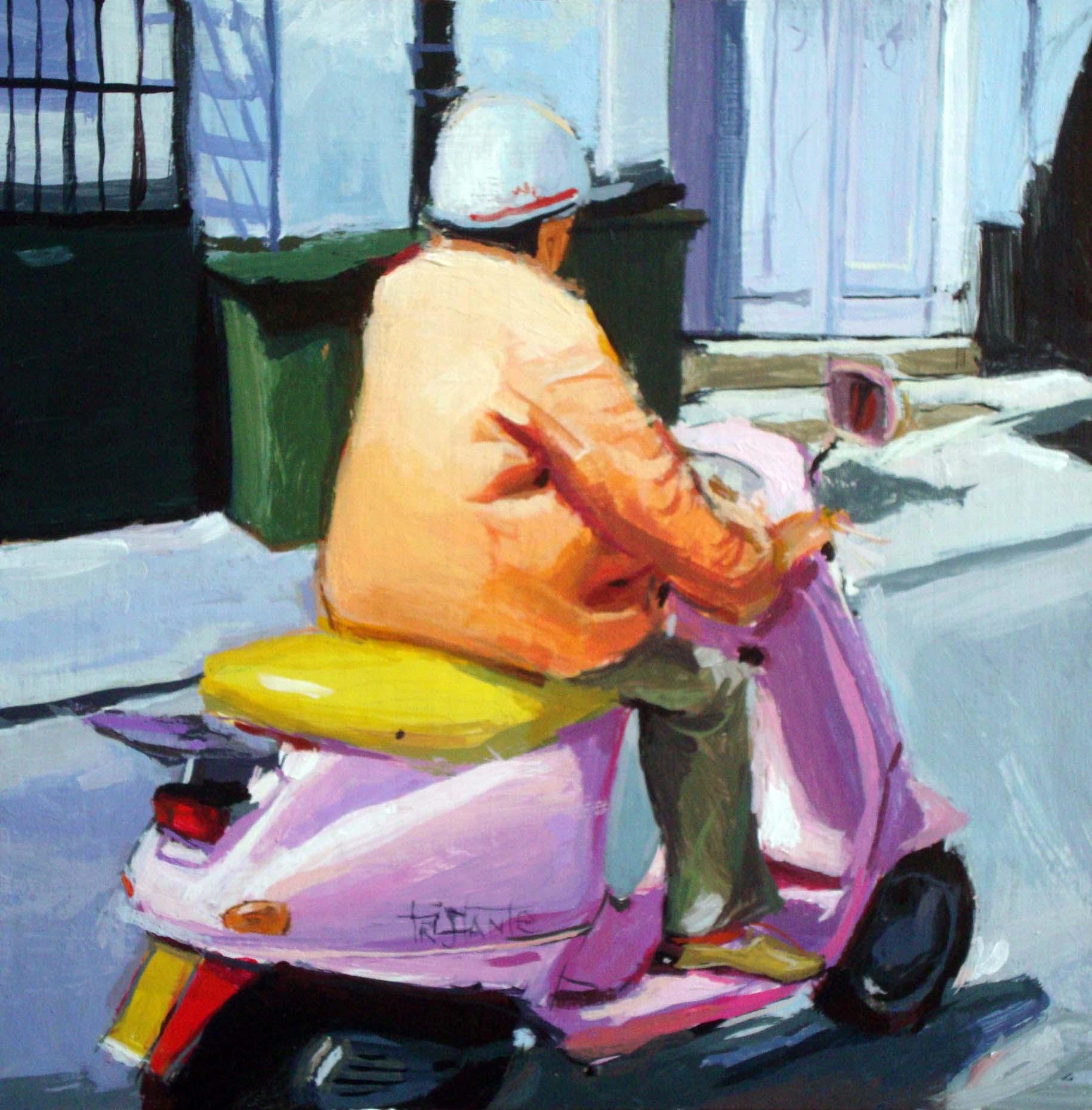 """Born to be pink"" original fine art by Víctor Tristante"