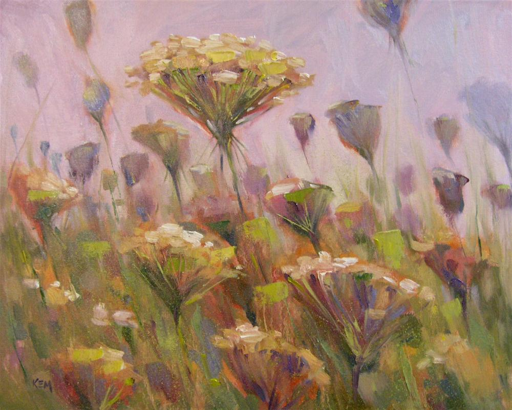 """Painting Queen Annes Lace in Oil...Mini Demo"" original fine art by Karen Margulis"