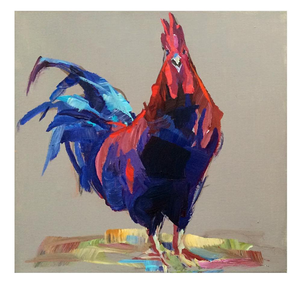 """""""Rooster 2"""" original fine art by Patti Mollica"""