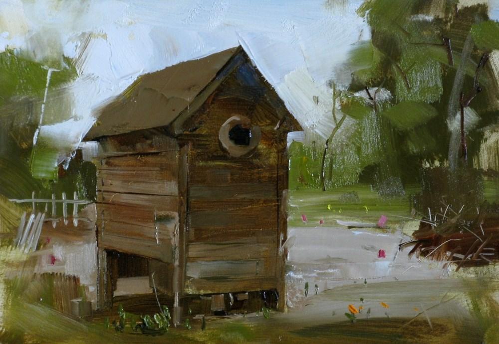 """""""""""In an Organic Garden"""" original fine art by Qiang Huang"""