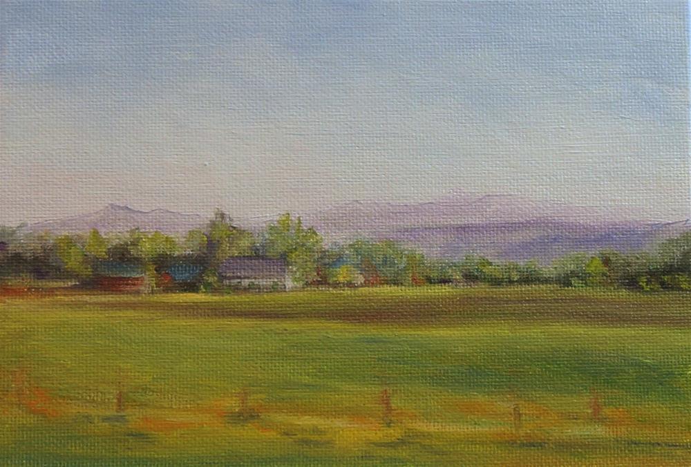 """Driving By Pennsylvania"" original fine art by Maria Levandowski"