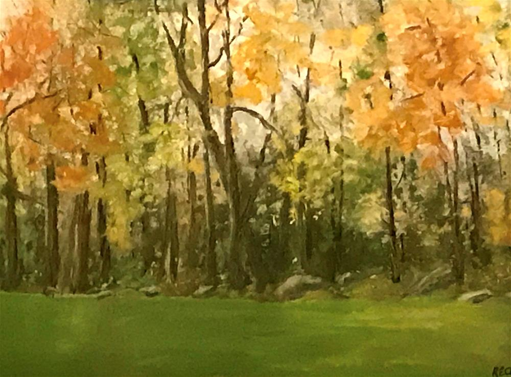 """fall in my back yard"" original fine art by Betty Argiros"