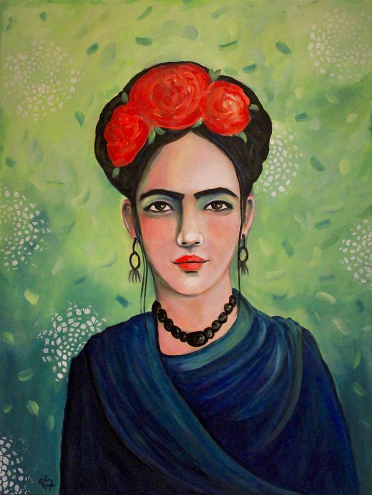 """""""La Pintora Mexicana"""" original fine art by Roberta Schmidt"""