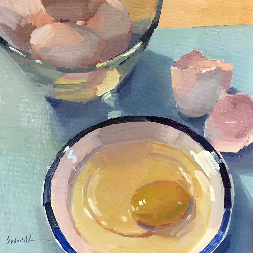 """Ocher Yolk"" original fine art by Sarah Sedwick"
