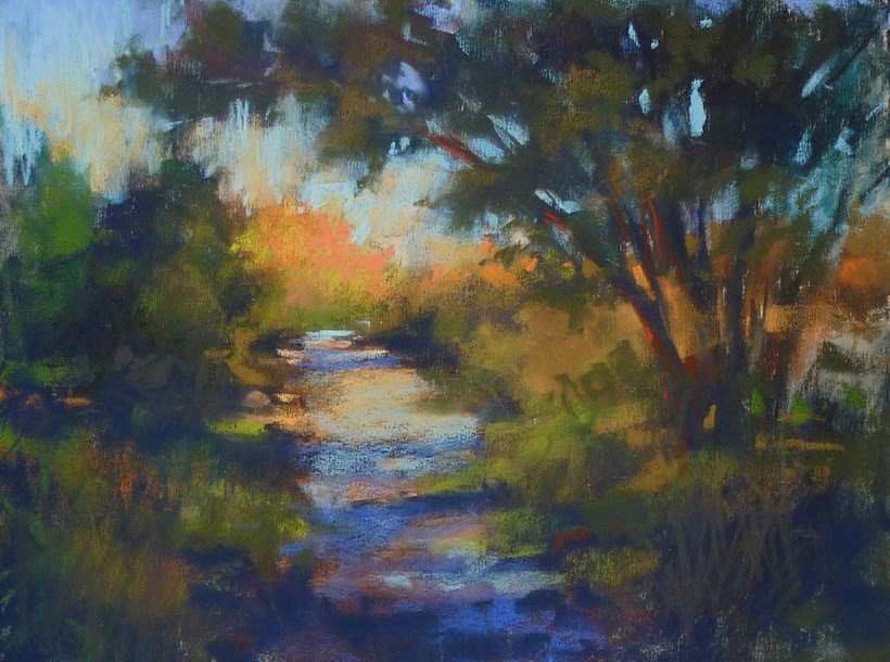 """""""New Video Demo Release: Using a Tunnel Composition and Listening to your Painting"""" original fine art by Karen Margulis"""