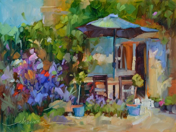 """""""Sunny Days in France and Keepers of the Beauty!"""" original fine art by Dreama Tolle Perry"""