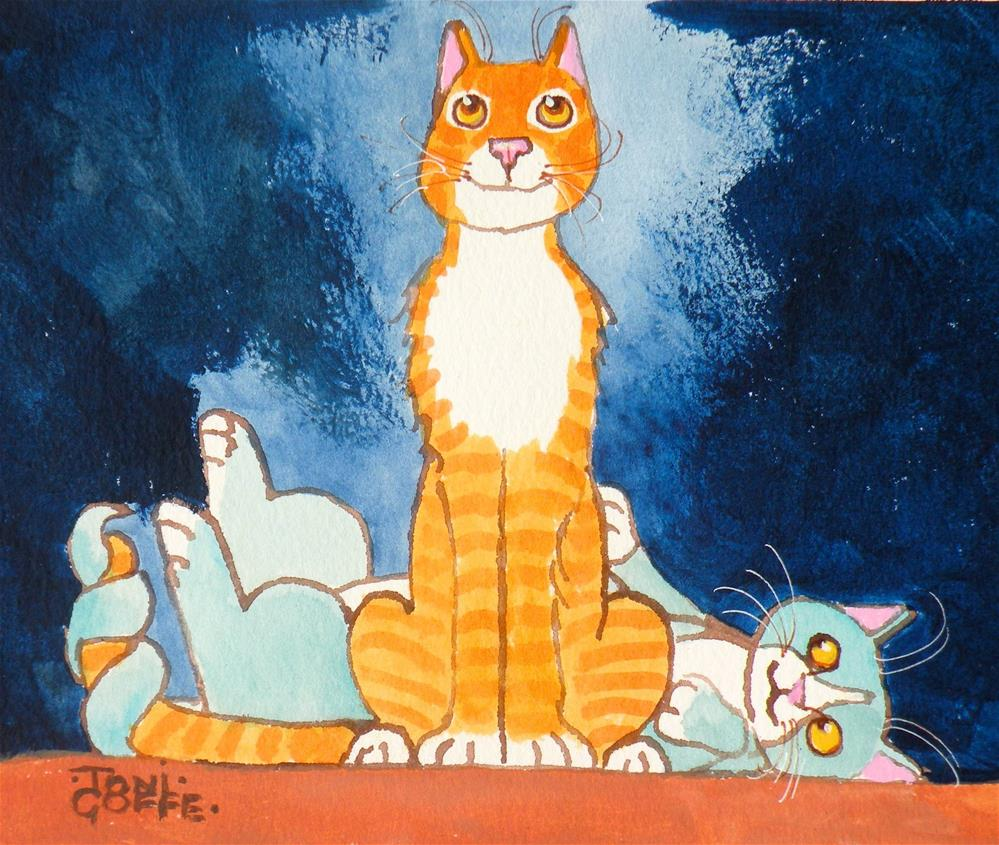 """""""I wonder what could be his name?"""" original fine art by Toni Goffe"""