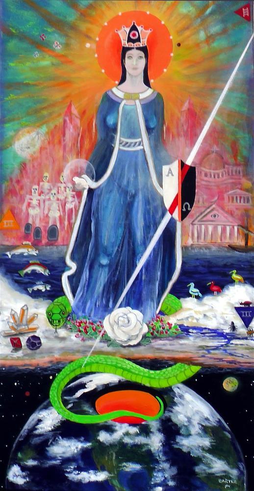 """Apocolipa"" original fine art by Janice Bartke Thompson"