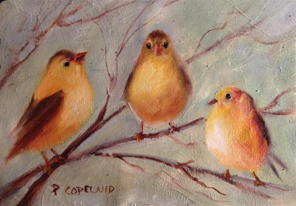 """""""Trio"""" original fine art by Pamela H. Copeland"""