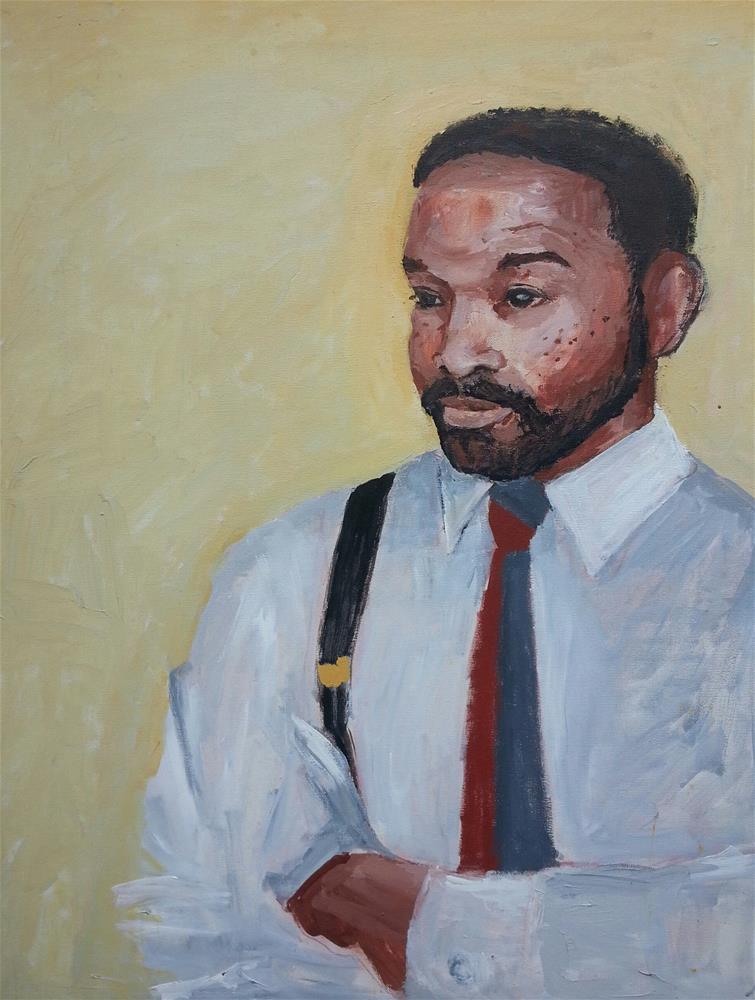 """Michael"" original fine art by Marie Lynch"