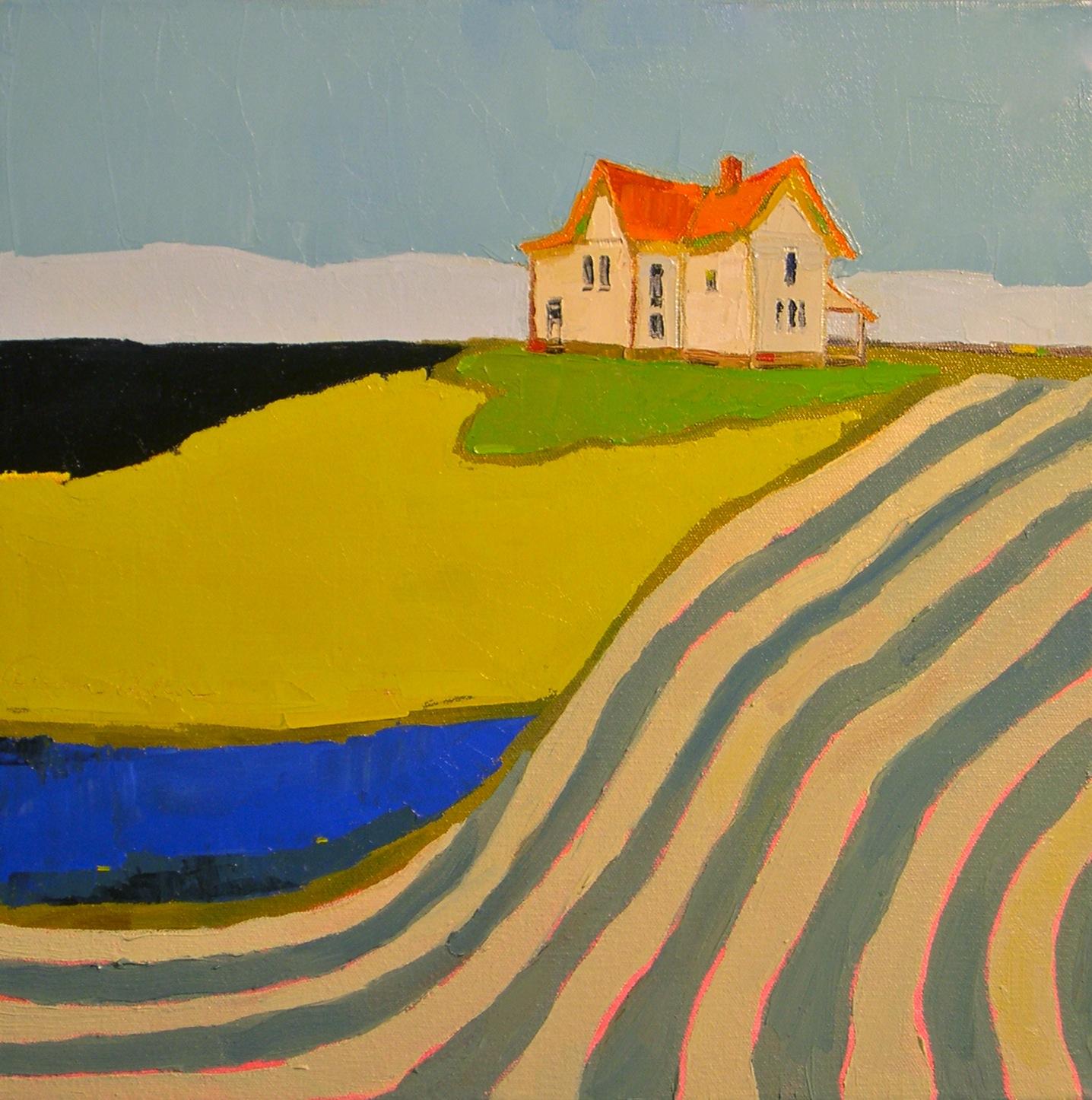 """""""Striped Fields III"""" original fine art by Donna Walker"""