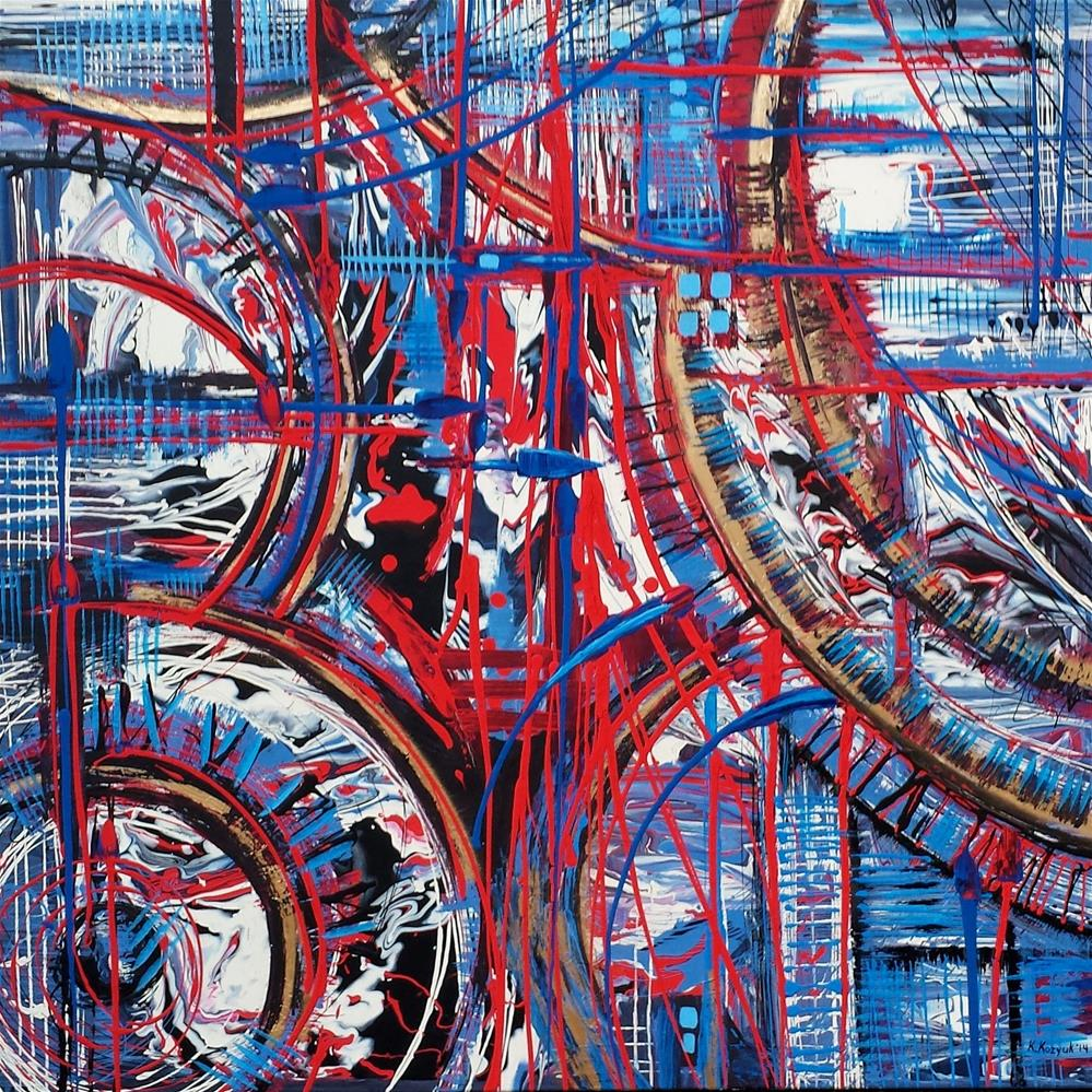 """Urban Time"" original fine art by Khrystyna Kozyuk"
