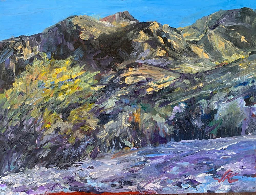 """Salt River Wash, AZ"" original fine art by Jean Krueger"
