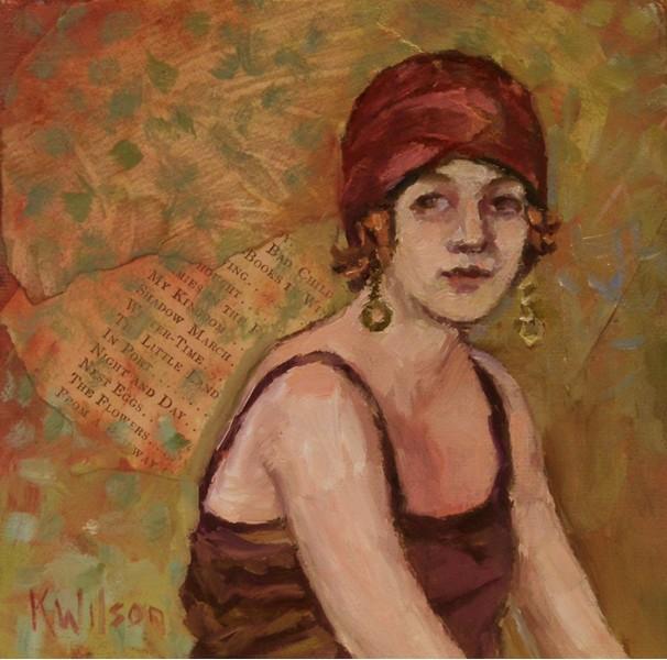 """""""Flapper"""" original fine art by Katie Wilson"""